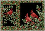 Festive Season Placemats - Black Cardinals