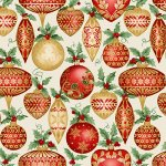 Allover Ornaments - Cream