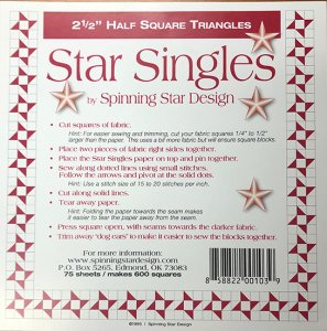 "2-1/2"" Triangles - Star Singles"