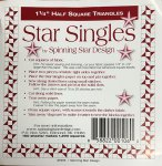 "1-1/4"" Triangles - Star Singles"