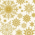 Metallic Snowflake - Cream
