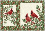 Festive Season Placemats - Cream Cardinals