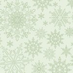 Tonal Snowflake - Light Green