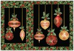 Festive Season Placemats - Black Ornaments