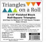 "2-1/2"" Triangles on a Roll"