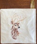 Stag Head Hot Pad
