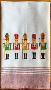 Nutcrackers Towel - Red